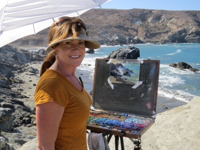 Lordier Painting on Catalina 2014