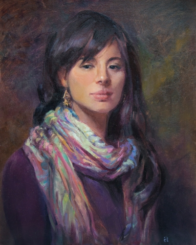 Anna Toberman, Colorful Scarf